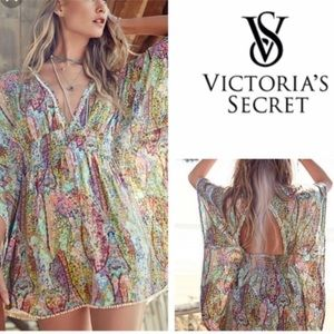 VS Victoria Secret Paisley Beach Swim Coverup Smal